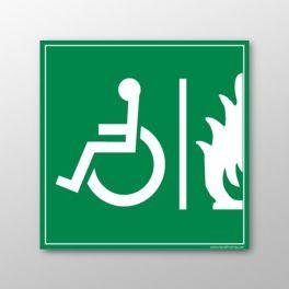 Panneau signalétique handicapé Espace d'Attente Sécurisé