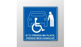 Panneau de parking en aluminium - P PERSONNEL