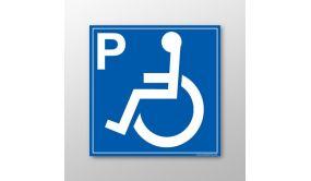 """Panneau signalétique """"Place parking pour personnes handicapées et à mobilité réduite"""""""