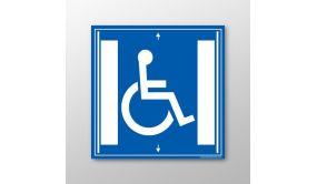 Signalisation handicapé - Ascenseur - flèche gauche