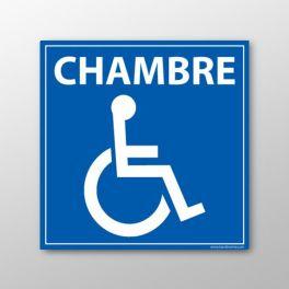 """Panneau signalétique """"Chambre"""" PMR"""
