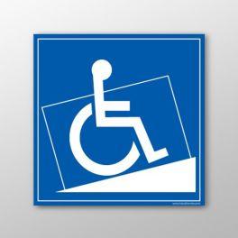 Ce pictogramme permet d'indiquer un lieu aux personnes en situation de handicap et à mobilité réduite PMR