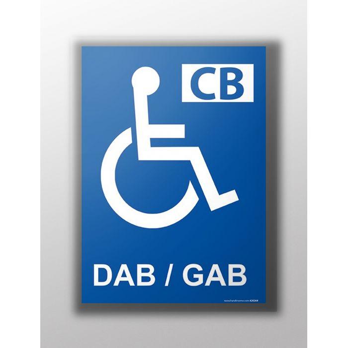 Panneau - Distributeur automatique handicapé