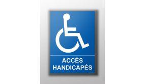 Panneau Design - Accès - Flèche gauche + Picto Handicapé