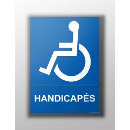 """Panneau Texte """"Handicapés"""""""