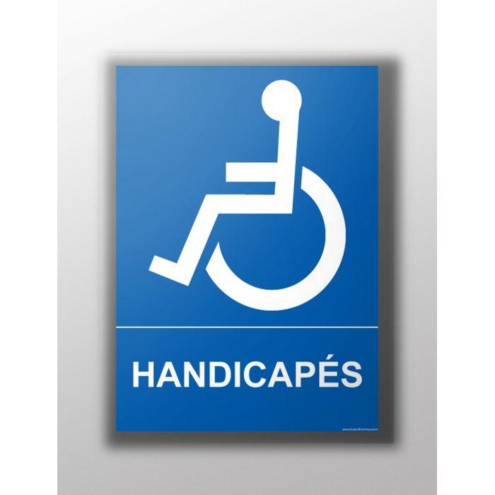 panneau handicap autocollant pour pmr indique une entr e ou un parking handicap. Black Bedroom Furniture Sets. Home Design Ideas