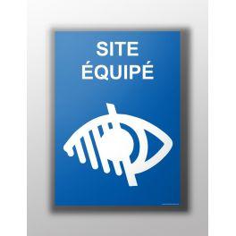 """Panneau """"Site équipé handicap visuel"""""""