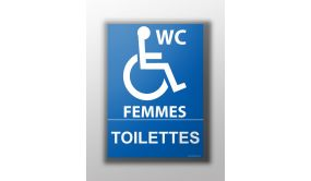 Panneau - Toilettes Handicapés Femmes
