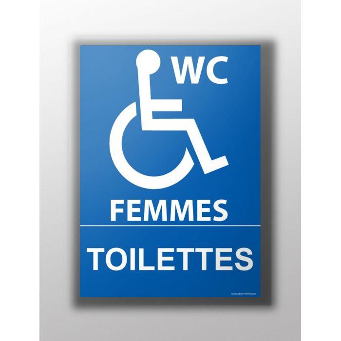 panneau pmr toilettes handicap s femmes signal tique. Black Bedroom Furniture Sets. Home Design Ideas