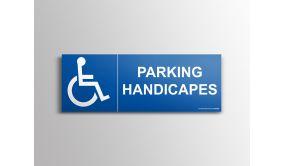 """Signalisation """"Parking Handicapés"""" + Picto Handicapé"""