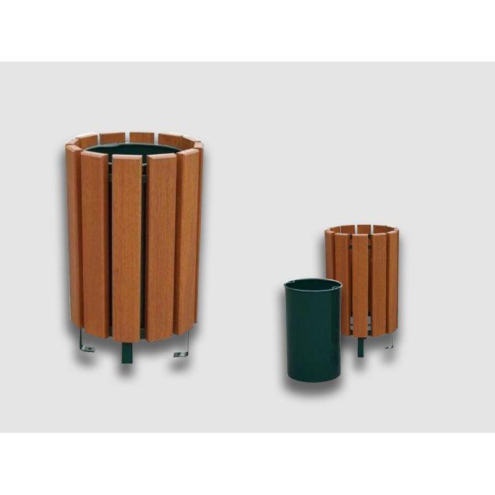 poubelle r glementaire en bois exotique id al pour votre. Black Bedroom Furniture Sets. Home Design Ideas