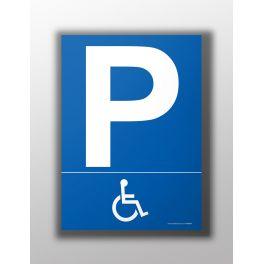 """Panneau """"Parking pictogramme handicapé"""""""