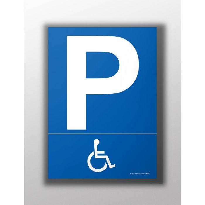 pictogramme signal tique parking pour handicap s. Black Bedroom Furniture Sets. Home Design Ideas