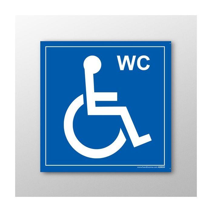 Dimension Minimale Wc Handicapé Lave Main : Signalétique erp panneau wc pmr avec picto