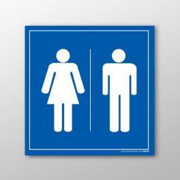 """Panneau signalétique toilettes """"Picto homme-femme"""""""