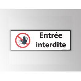 "Signalisation ""Entrée interdite"" - picto main"