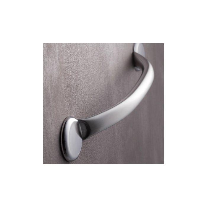 barre d 39 appui droite banju droite couleur aluminium pour salle de bain. Black Bedroom Furniture Sets. Home Design Ideas