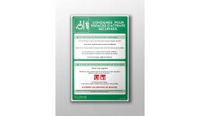 Panneau Consignes EAS en PVC