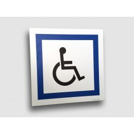 Panneau de Circulation en Alubidond : Stationnement Réservé aux Personnes Handicapées