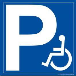 Panneaux signalétique avec le symbole handicapé bleu pour place de parking