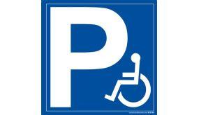 Panneau signalétique P + symbole Handicapé
