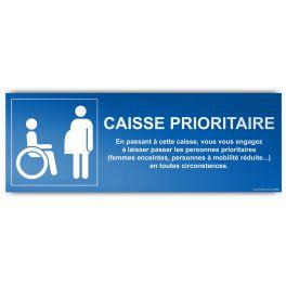 Panneau recto/verso Caisse prioritaire