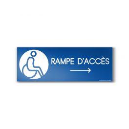 "Panneau Design ""Rampe d'accès"" Flèche droite"
