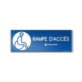 """Panneau Design """"Rampe d'accès"""" Flèche gauche"""