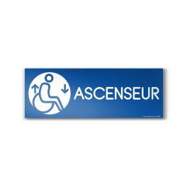 """Panneau Ascenseur design """"Handicapé"""""""