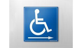 Panneau picto Handicapé flèche droite