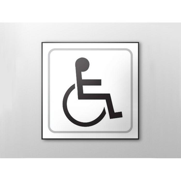 Panneau picto Handicapé - relief