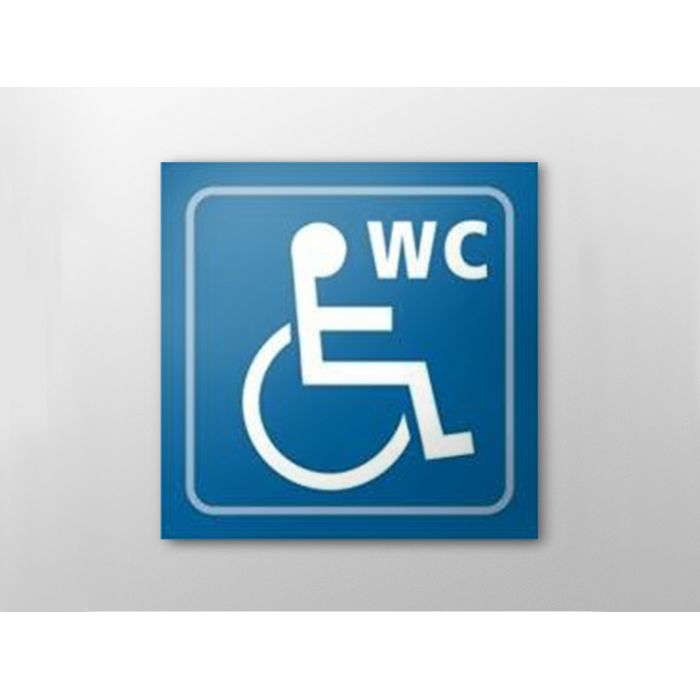 picto signal tique en relief toilettes handicap s. Black Bedroom Furniture Sets. Home Design Ideas