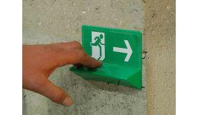 Signalétique Issue DE Secours - braille