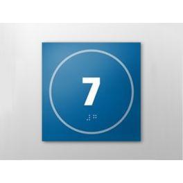Panneau porte - NUMERO 7 - relief et braille