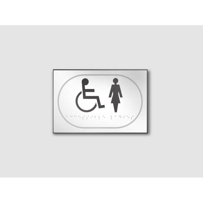 panneau pmr en relief et en braille handicap s homme femme. Black Bedroom Furniture Sets. Home Design Ideas