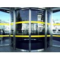 Bandes de signalisation - surfaces vitrées jaune