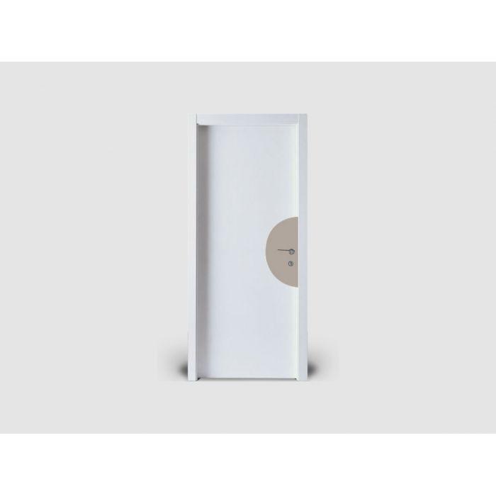 Plaque de porte silhouette demi lune permet de signaler - Plaque de porte wc design ...