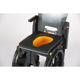 Seau d'accès pour fauteuil d'accès aux toilettes