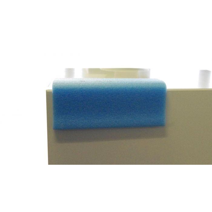 Lot de 10 Cornières de protection adhésive en L bleu