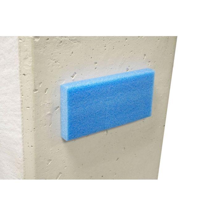Profilés plats de protection bleu adhésifs