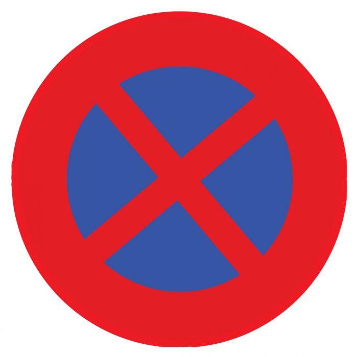 panneau rond interdit de s'arrêter