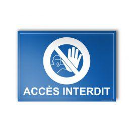 Plaque gravée - Accès Interdit