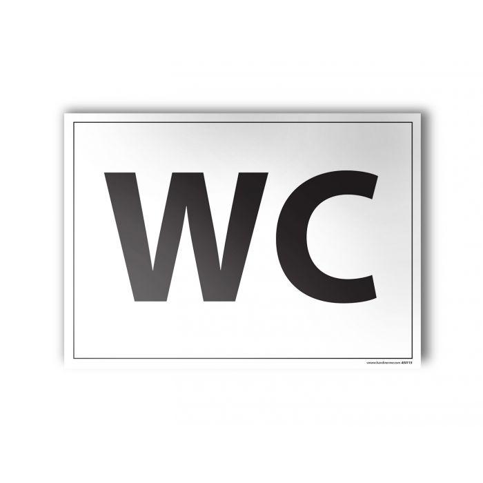 plaque grav e wc signal tique pour indiquer une porte de toilettes disponible en 3 coloris. Black Bedroom Furniture Sets. Home Design Ideas