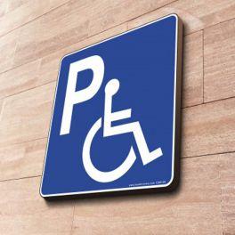 Panneau Parking handicapé à couvre-chant PMR
