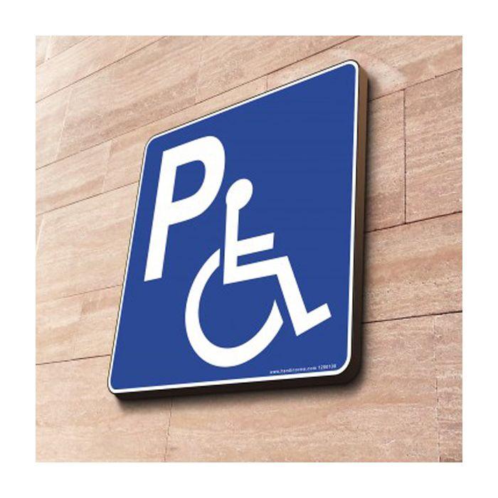 panneau de parking handicap couvre chant carr. Black Bedroom Furniture Sets. Home Design Ideas