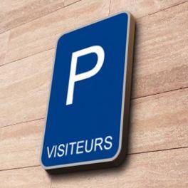 Panneau Parking VISITEURS - couvre-chant