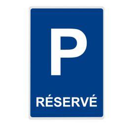 Panneau Parking RESERVE - plat