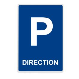 Panneau Parking DIRECTION - plat