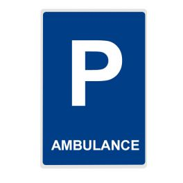 Panneau Parking AMBULANCE - plat