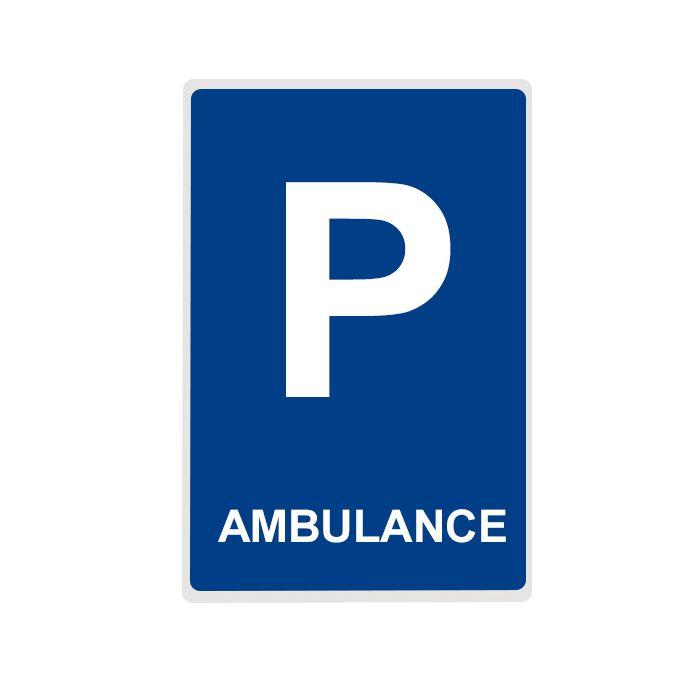 panneau de signalisation pour parking ambulance en aluminium plat. Black Bedroom Furniture Sets. Home Design Ideas